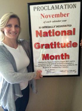 November is National Gratitude Month